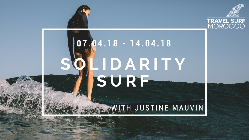 Solidarity Surf avec Justine Mauvin