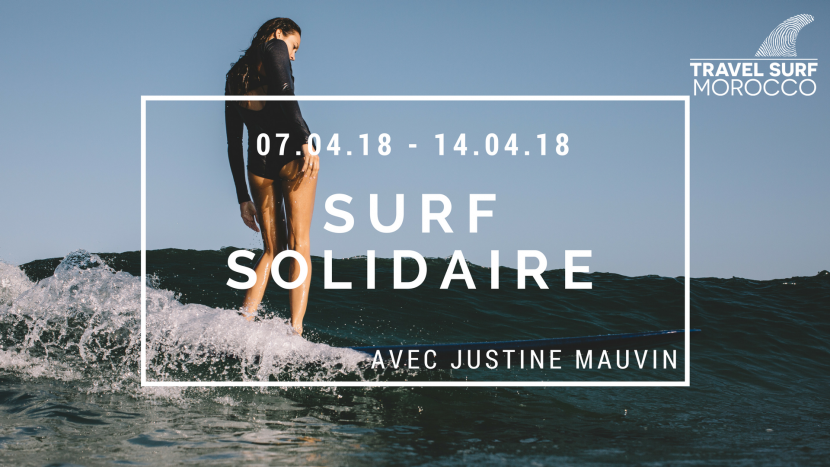Surf Solidaire avec Justine Mauvin